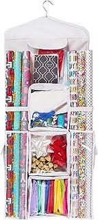 Double Sided Hanging Gift Wrap u0026 Bag Organizer Storage  sc 1 st  Amazon.com & Amazon.com: Gift Bag Organizer - Storage for Gift Bags Bows Ribbon ...