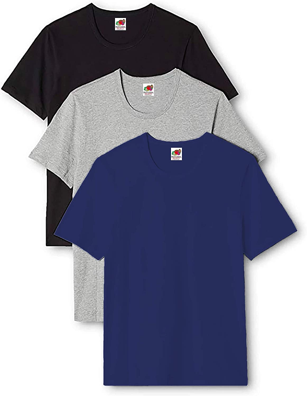 Uomo Pacco da 3 Fruit of the Loom T-Shirt