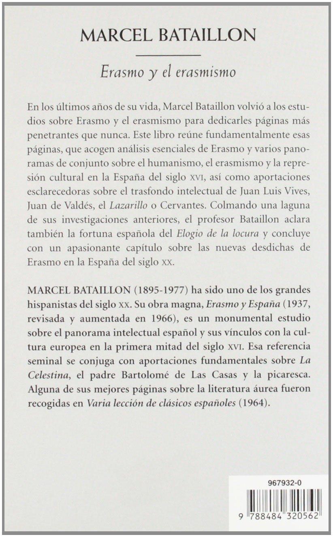 Erasmo y el erasmismo (Biblioteca de Bolsillo): Amazon.es: Bataillon, Marcel: Libros