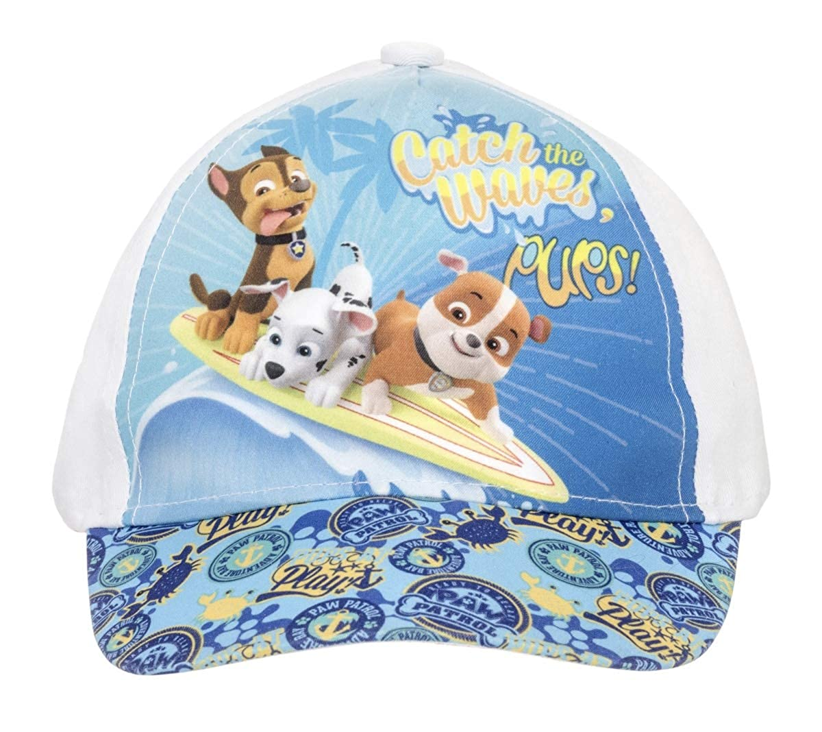 Berretto per Bambini Ragazze e Ragazzi 100/% Cotone con Velcro Regolabile Berretto da Baseball Paw Patrol Berretto