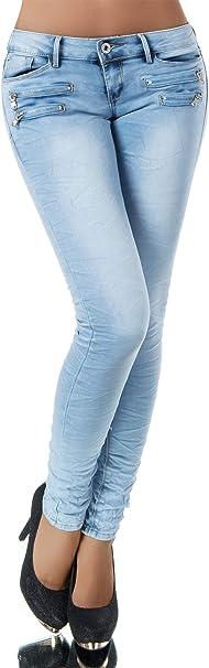Diva-Jeans - Vaqueros - Skinny - Liso - para mujer