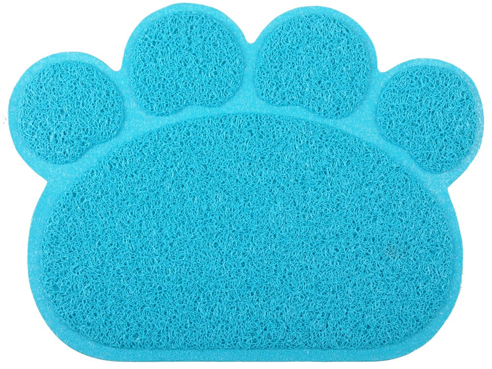Paw-Shaped Large Cat Litter Mat,Kitty Litter Rug Doormat,23.5*17.75 Inches,7 Colors Available (Grey) Homestead