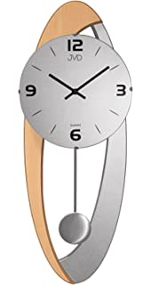 Wanduhr mit Pendel Uhren Anthrazit schleichende Sekunde geräuschlos ...