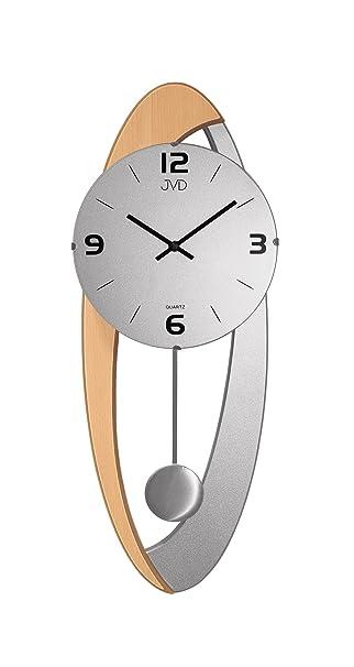 Wanduhr Pendel Uhren Erle Silber Holzgehuse Wohnzimmer Esszimmer Gut Lesbar