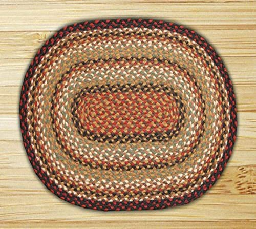 Earth Rugs Oval Rug, 5 x 8 , Burgundy Mustard Ivory