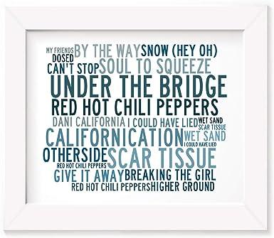 Lyrics Gift Signed Art Anthology XTC Poster Print