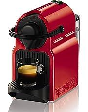 Nespresso Intenso Krups Inissia XN1005 Cafetera de cápsulas de 19 bares con 2 programas de café y función de autoapagado, color rojo