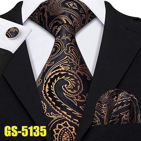 WOXHY - Corbata de Oro para Hombre, 100% Seda Jacquard, 7 Colores ...