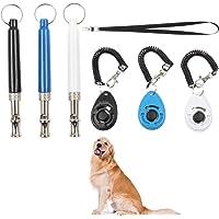 Olgaa - Silbato de perro para entrenamiento ultrasónico profesional para perros, con clic, cordón para cachorros, parar…