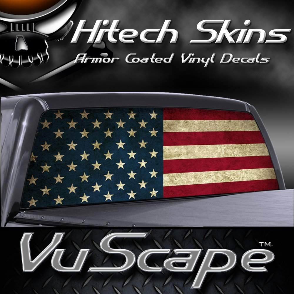 Amazoncom VuScapes AMERICAN FLAG Rear Window Truck Graphic - Back window decals for cars