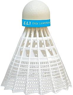 Amarillo//Negro Cabeza Isom/étrica Longitud Acortada 63 cm Mango de Aprendizaje 419614 Talbot Torro Raqueta de Aprendizaje de Badminton ELI Teen