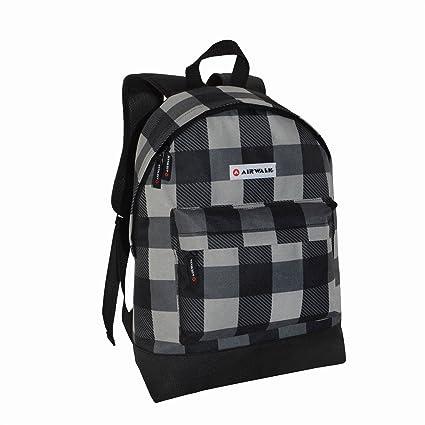 6398f54b5c Airwalk All Over Print Backpack Black Grey Bag Rucksack Carryall One Size