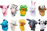 Super Z Outlet Velvet Cute Animal Style Finger Puppets for Children, Shows, Playtime, Schools - 10 Animals Set