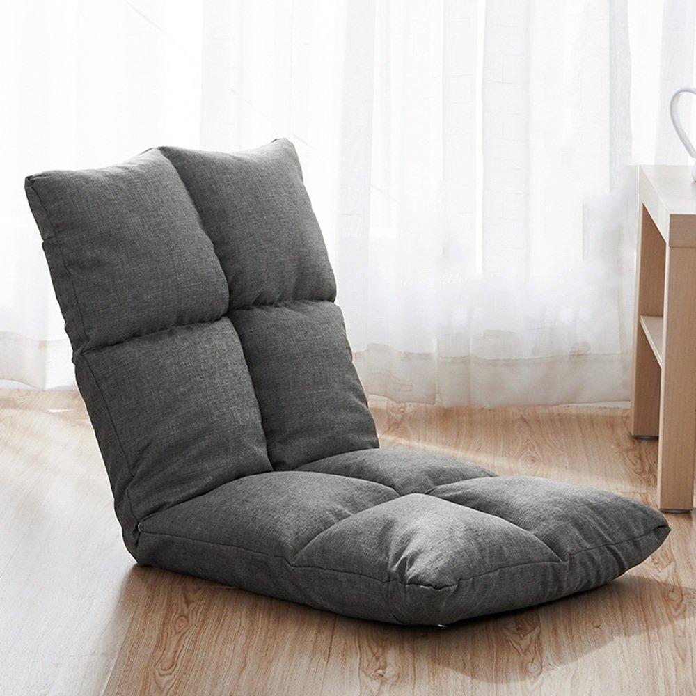 QFFL 個人的な創造的な折り畳み可能な背もたれの椅子/寝室調節可能な折りたたみ椅子/矩形実用的な省スペースの床のベッド(15色が利用可能) アウトドアスツール (色 : I) B07F1LHHS9 I I
