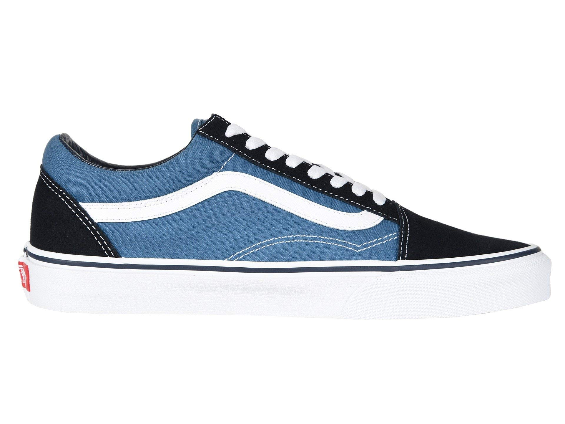 Vans Off The Wall Old Skool Sneakers (Navy) Men's Skateboarding Shoes by Vans (Image #6)