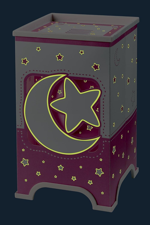 Vamos 63230S Lampe de Chevet Lune Rose 13 x 13 x 22 cm