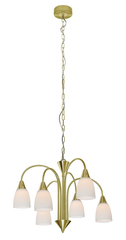 WOFI de techo corona, 6-lámpara de techo, Serie Casa, 6 x ...
