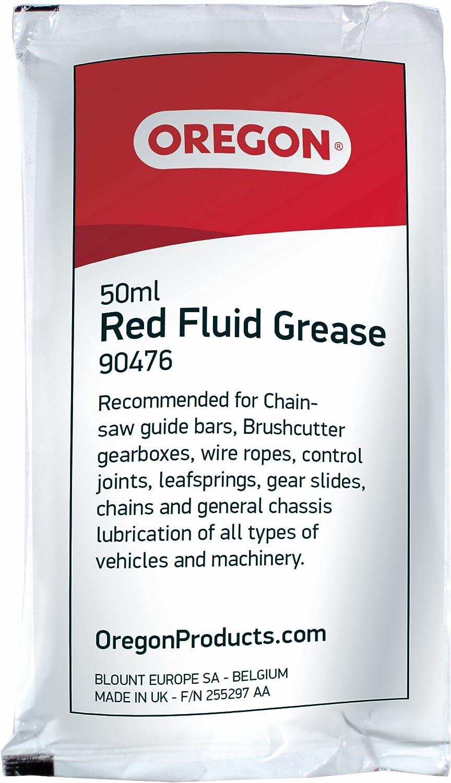 Oregon 90476 - Líquido rojo bolsa de grasa para lubricar las ruedas dentadas 50 ml punta de la espada motosierra