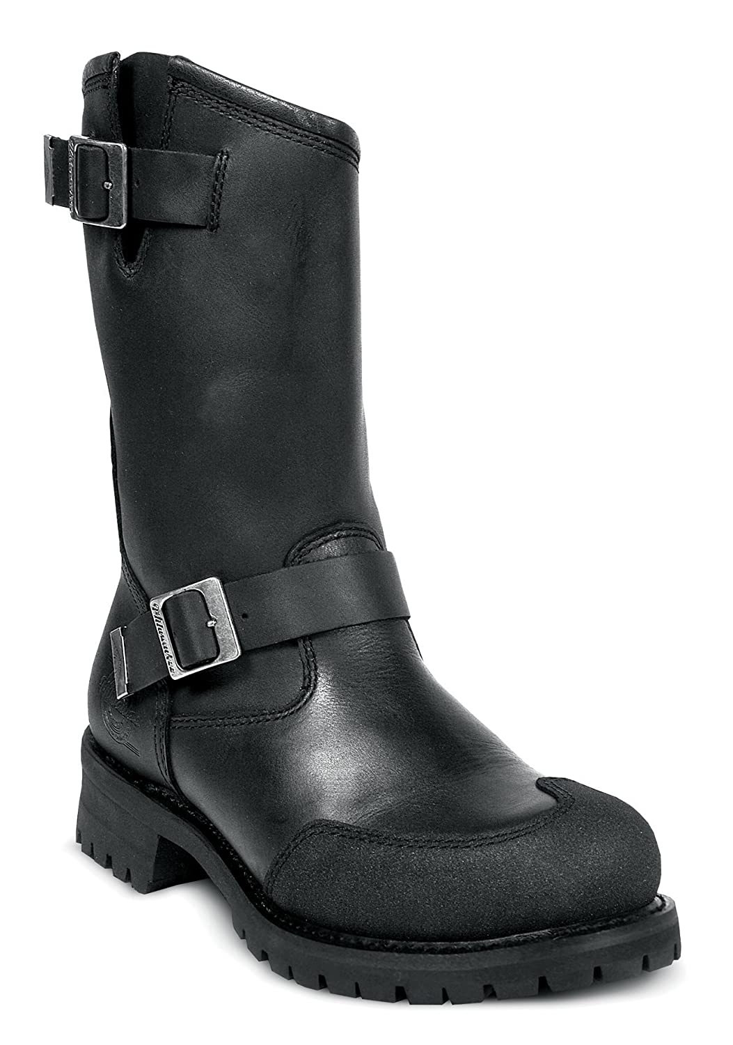 Black, Size 13D Milwaukee Motorcycle Clothing Company Drag Engineer Leather Mens Motorcycle Boots