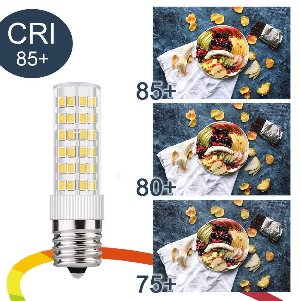 DiCUNO E17 LED Bulb Microwave Oven Light 6 Watt Appliance Bulb Daylight White 6000K 550lm 60W Halogen Equivalent AC110-130V 6-Pack