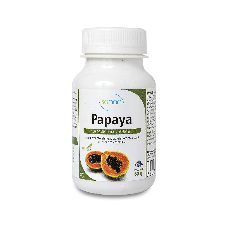 SANON - SANON Papaya 100 comprimidos de 600 mg: Amazon.es: Salud y cuidado personal