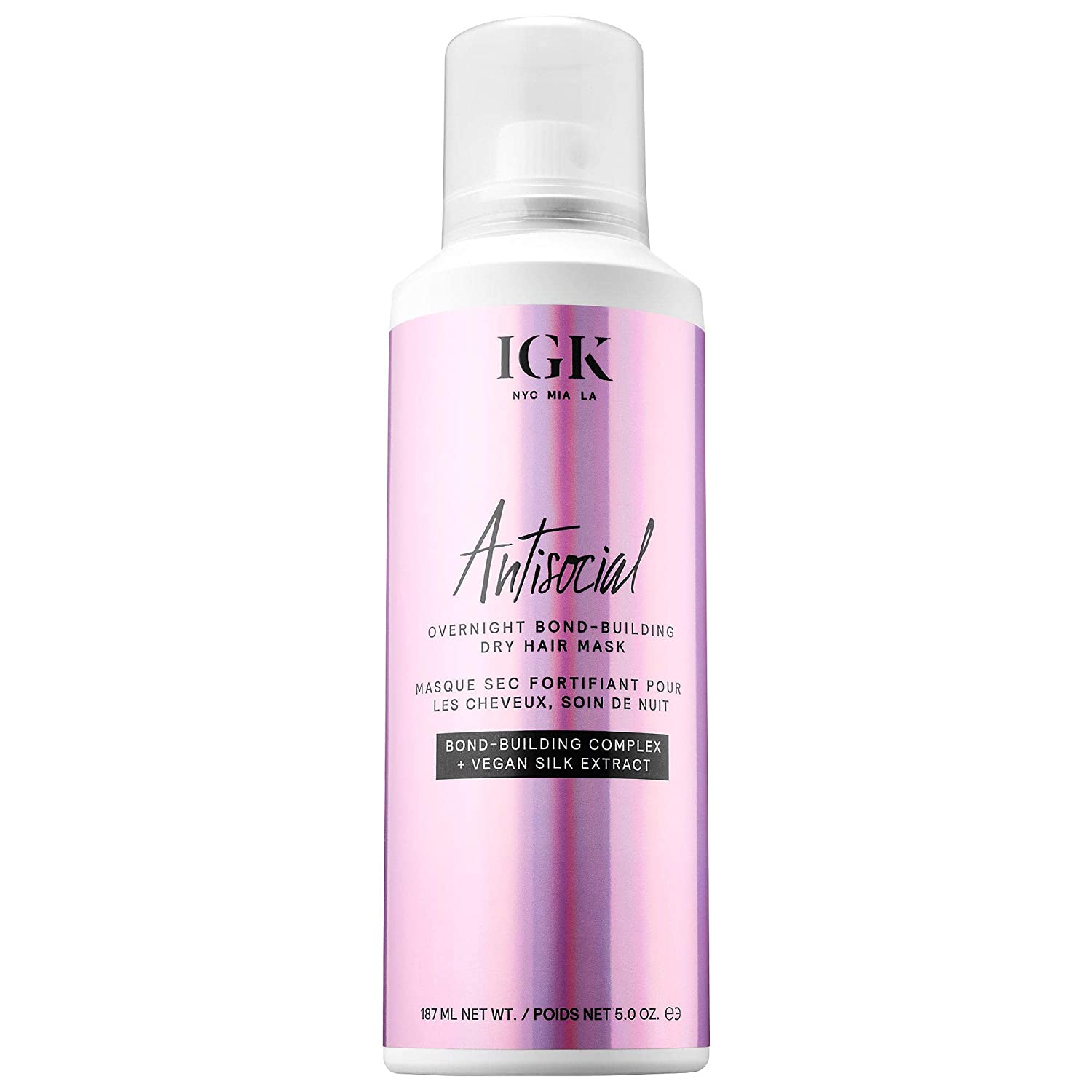 Amazon.com: IGK Antisocial Overnight Bond Building Dry Hair ...