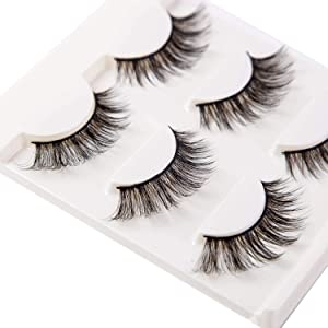 Giveaway: 3D False Eyelashes Extensions 3 Pairs Long Lashes Strip…