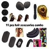 RAAYA Hair Styling Accessories For Women 11 Pcs (3 Donut+ Hair Base+ Hair Puff set+ Tic-Tac Hair Base+1 Banana Donut)
