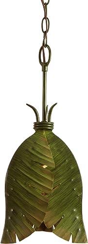 Varaluz 901M01 Banana Leaf 1-Light Mini Pendant – Banana Leaf Finish