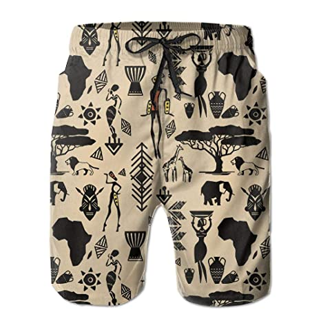 83f411ed86 AA WIU African Women Mens Summer Quick Dry Swim Trunk Drawstring Surf Board  Shorts Swimsuit