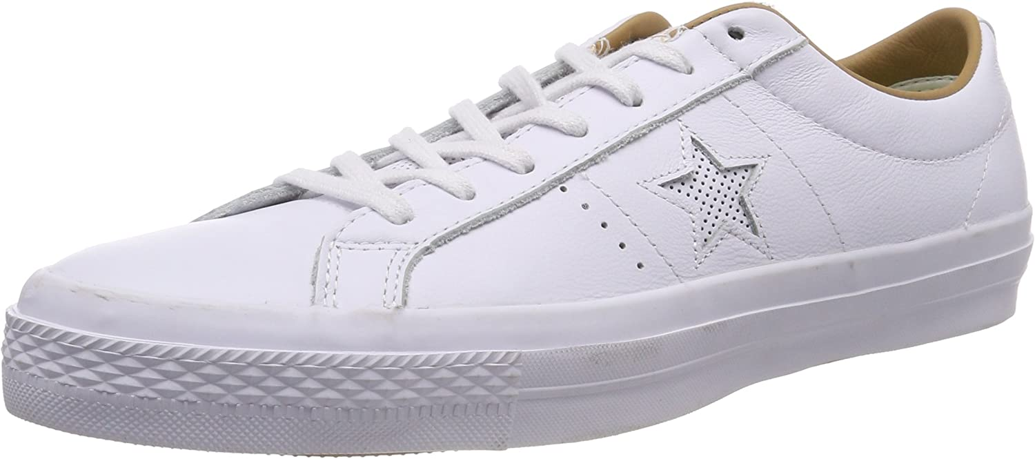 Amazon.com | Converse One Star Leather OX White/Sand | Fashion