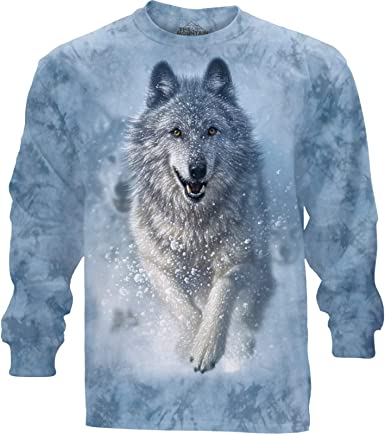 """WOLF /""""SNOW PLOW/"""" CHILD T-SHIRT THE MOUNTAIN"""