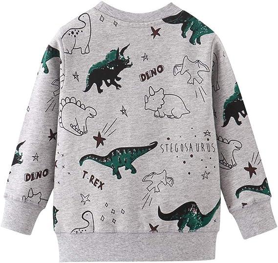 EULLA Baby Jungen Sweatshirt Kinder Warme Pullover Jumper Oberbekleidung 1-7 Jahre