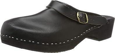 Men's Clogs | Leather | Wooden Sole_36