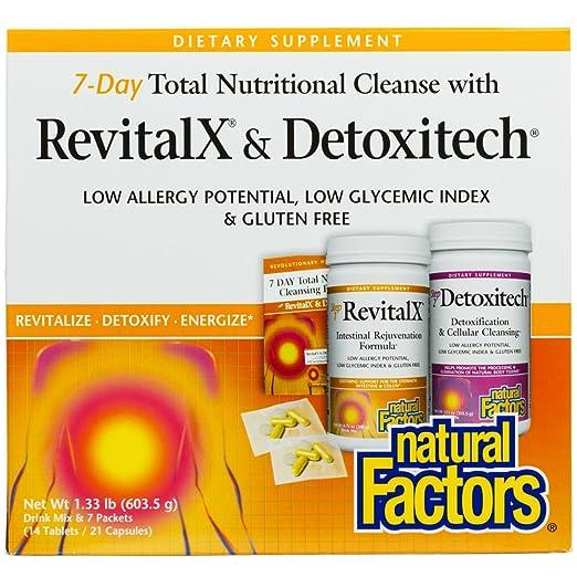 Amazon.com: Natural Factors - RevitalX & Detoxitech, 7 Day Total  Nutritional Cleansing Program, 7 Day Kit: Health & Personal Care