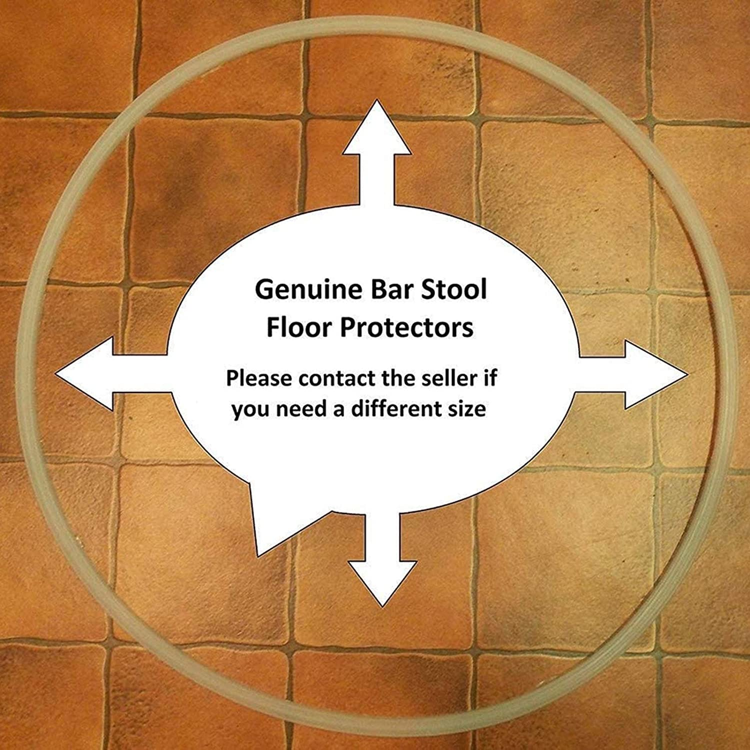 1x 17-18/″ Bar Stool Floor Protector Ring Edge Trim Pads Anti-Scratch Protection Glider Ring