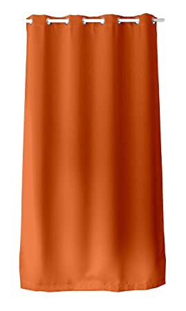 Enjoy Home Rideau Occultant avec 8 Oeillets Polyester Orange 140x240 ...
