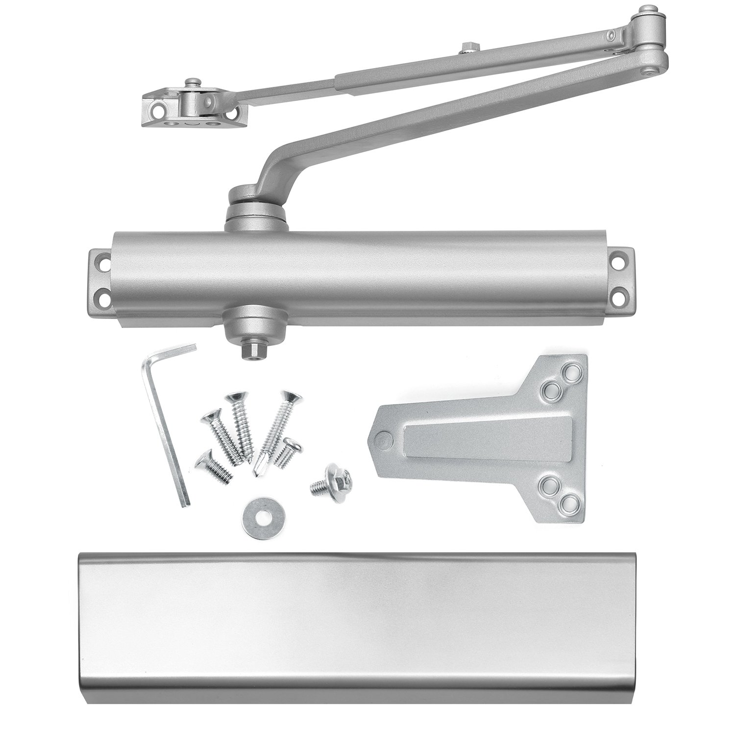 Heavy Duty Grade 1 Cast Aluminum Commercial Door Closer, Lawrence Hardware LH816 for high-traffic entrances/doorways/aluminum storefronts. Identical to Norton 8501 Footprint, & comparable to LCN 1461