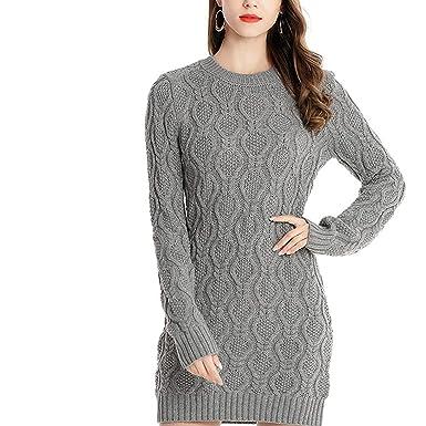 765cbf450 Amazon.com  2018 Autumn Winter Warm Sweater Dress Women Sexy O-Neck ...