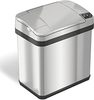 iTouchless 2.5 Gallon Touchless Trash Can 9.5L w/Odor Filter & Fragrance