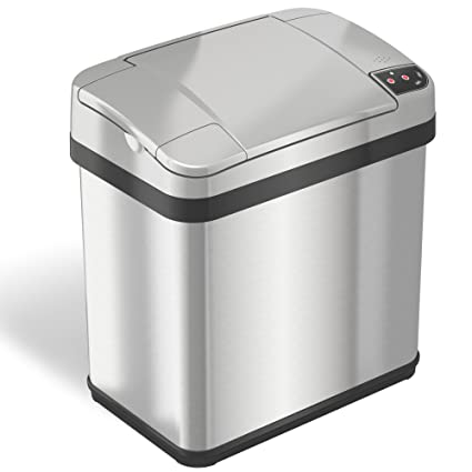 Captivating ITouchless 2.5 Gallon Stainless Steel Touchless Trash Can With Odor Filter  And Fragrance, Automatic Sensor