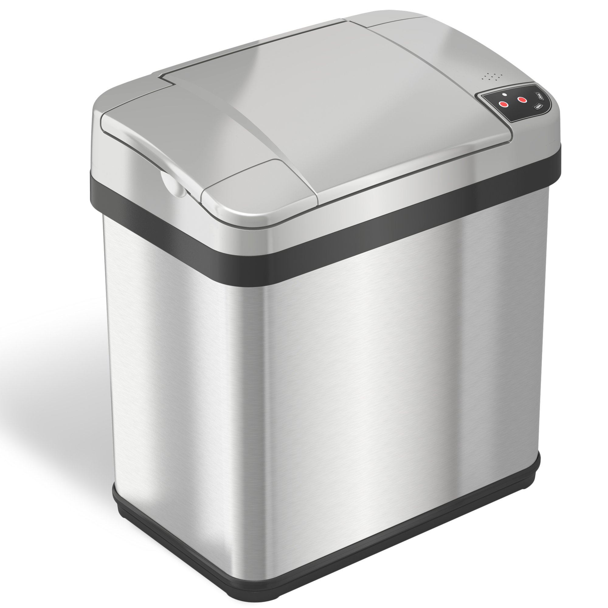 iTouchless 2.5 Gallon Stainless Steel Touchless Trash Can with Odor Filter and Fragrance, Automatic Sensor Lid, Bathroom or Office, 9.5 L by iTouchless