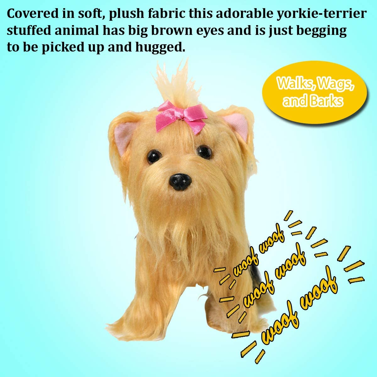 Home-X Yorkie Terrier Interactive Pets Stuffed Animals Electric Dog Toys