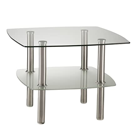 Merveilleux Fineboard FB CT07 WGS Glass Coffee Table/Side Table 2 Tier, Glass