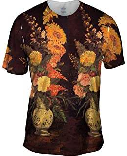 -Allover Print 1886 Mens Hoodie Yizzam- Van Gogh -Bowl with Roses
