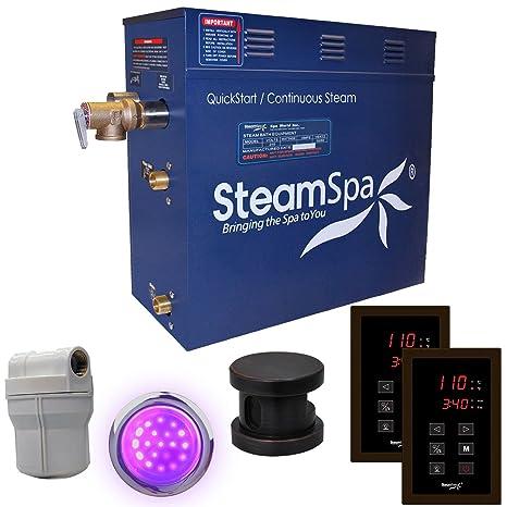 Amazon.com: Generador de vapor Spa Royal 10,5 kw acu-steam ...