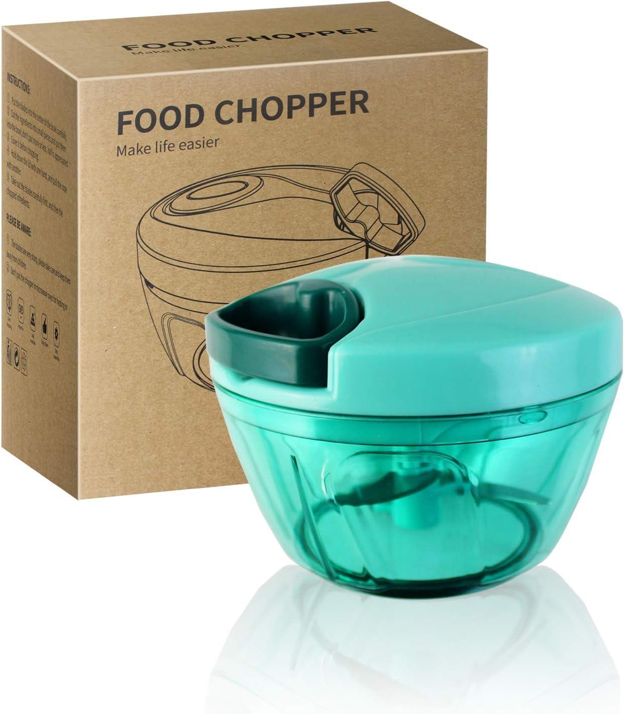 Shareway Manual Food Chopper Hand Pull Mincer Blender to Chop Fruits/Vegetables/Nuts/Herbs/Onions/Garlics for Salsa/Salad/Pesto/Coleslaw/Puree