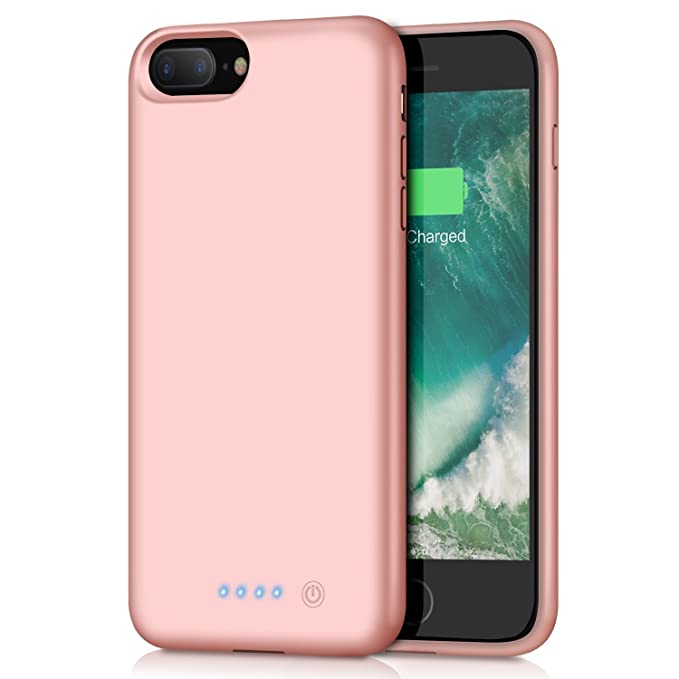 the latest 88b31 488b7 Battery case for iPhone 8 Plus / 7 Plus 8500mAh, HETP Rechargeable External  Battery Pack for Apple iPhone 8 Plus 7 Plus Charging Case Portable Backup  ...