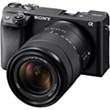 Sony ILCE6400M/B Black Alpha A6400 Mirrorless Camera:Compact APS-C Interchangeable Lens Digital Camera with Real-Time Eye Aut