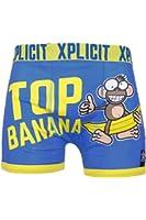 Xplicit Men's Top Banana 3 Funny Novelty Boxer Shorts